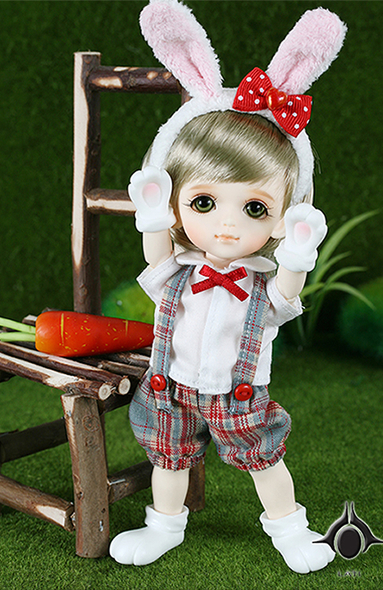 1/8 scale BJD about 15cm pop BJD/SD cute Rabbit Byurl Resin figure doll DIY Model Toys gift.Not included Clothes,shoes,wig