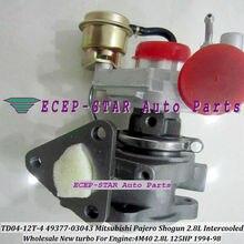 Free Ship TD04 49377-03043 03041 ME201636 Turbo Turbocharger For Misubishi PAJERO Montero Shogun Intercooled 94- 4M40 4M40T 2.8L