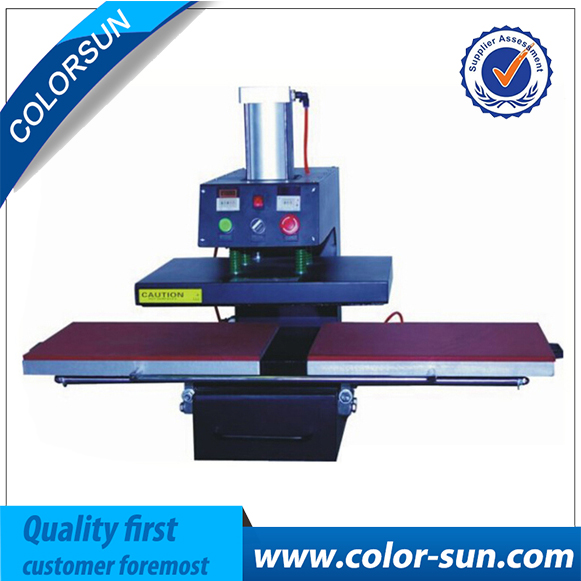 Heat Press Machine Double Place for air cheap manual swing away heat press machine for flatbed print 38 38cm