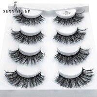 Extension mink eyelashes false lashes pairs eyelash SEXYSHEEP long fake natural makeup 2/4 beauty 3d for