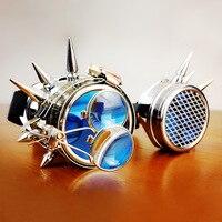 High Grade Retro Steampunk Sunglasses Classic Brand Designer Round Mirror Fashion Hip Hop UV400 Vintage Sun
