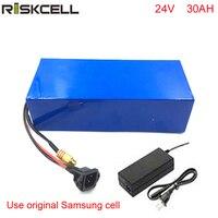 24v 30ah bateria de íon de lítio da bateria bicicleta elétrica com carregador + bms Para Samsung celular