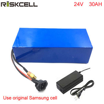 electric bicycle battery 24v 30ah lithium ion battery pack with charger +bms For Samsung cell