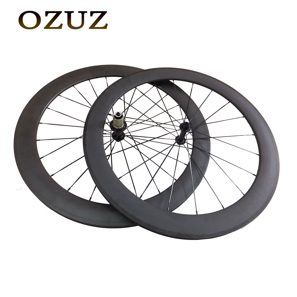 Customs Tax Free OZUZ Ceramic Bearing Carbon Wheels 50mm Clincher 3K Matte 3K Glossy Road Bicycle Bike Wheelset Powerway R13 Hub 700c full carbon dimple clincher road bike wheels 50mm racing bike wheelset powerway r36 ceramic hub