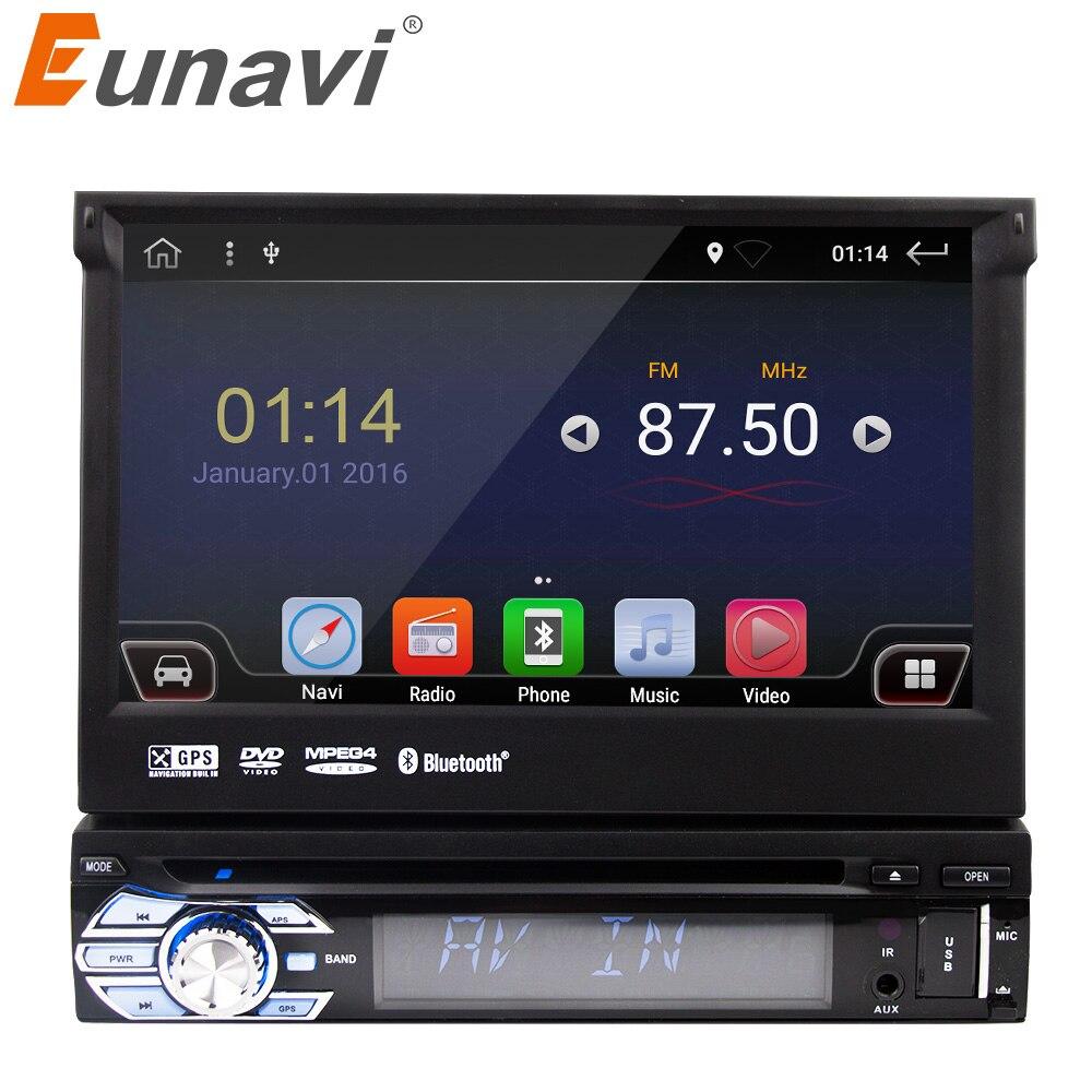 Eunavi 7 Universal 1 din Android 6 0 Quad Core font b Car b font DVD
