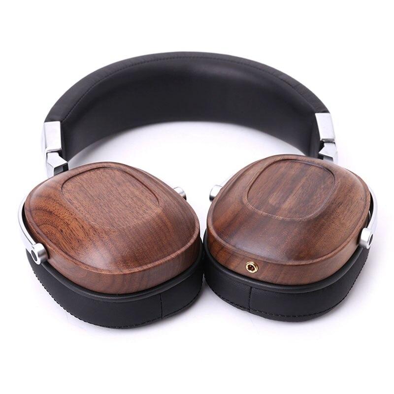 1 PC BOSSHIFI B8 Stereo Wooden Over ear Black Mahogany Earphone Headphone Headset