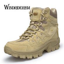 WINDRIDERISM Men Ankle Boots Fashion New Style Desert Boots Suede Leather Men Shoes Damping Botas de Hombre Black Sand Plus Size