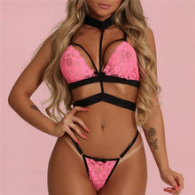 Women's Sexy Lace Sets Sleeveless Halter Crop Tops+Shorts 2Pcs Ladies Sets V-Neck Slim Vest Lace Shorts Women Clothing(China)