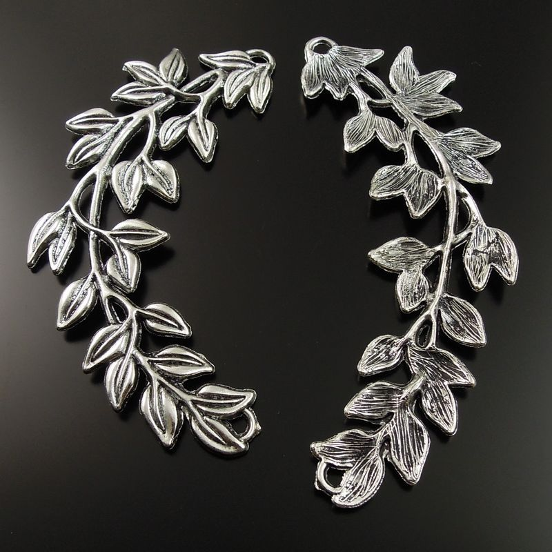 5PC perles cage argent//or 3D couronne médaillon pendentif Huile Diffuseur 23*19MM