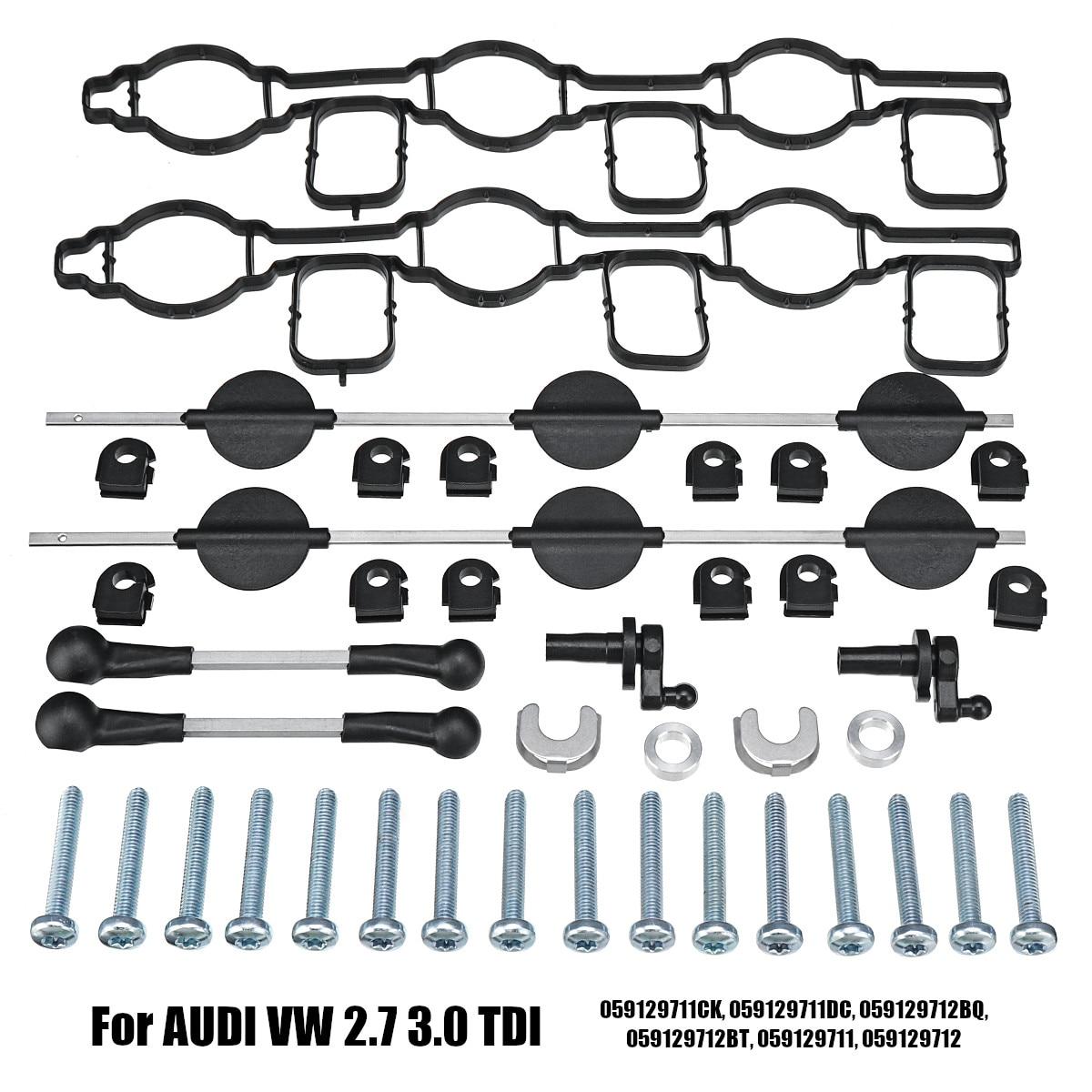 Inlet Intake Manifold Swirl Flaps Set for AUDI for VW 2.7 TDI A4 A5 A6 A8 Touareg 059129711CK 059129711DC 059129712BQ 059129712B inlet manifold intake manifold for vw audi seat 1 8 tsi tfi cdaa