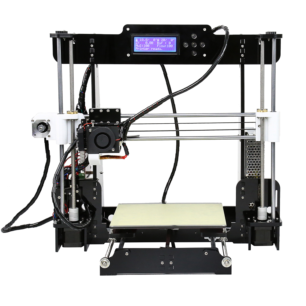 2016 high precision quality Anet A8 3d printer Prusa i3 1 Roll Filament 8GB SDcard express shipping Russian warehouse cheap