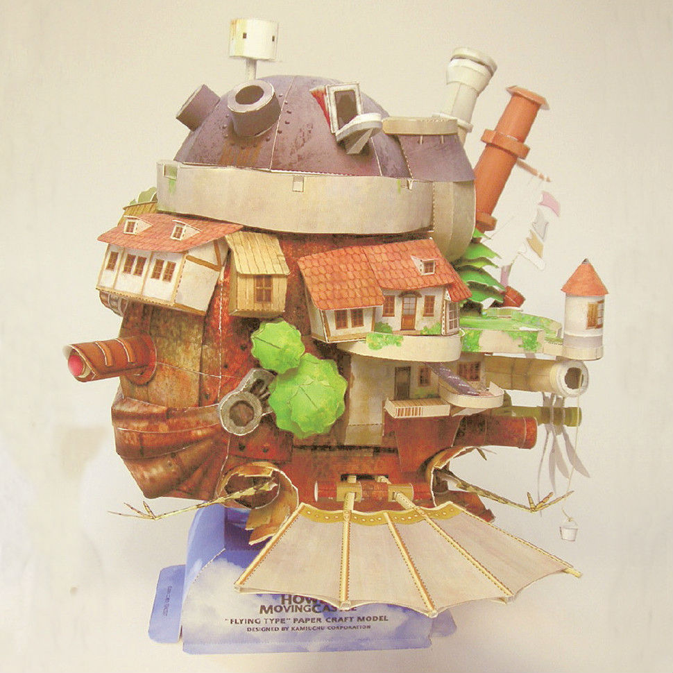 online buy whole howl s moving castle paper model from howl s moving castle fun 3d paper diy miniature model kit puzzle toy children educational new year