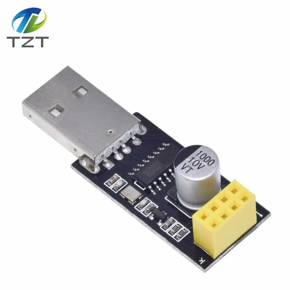 Adaptateur programmeur ESP01 UART GPIO0 adaptateur ESP-01 ESP8266 CH340G USB vers ESP8266 Module de carte de développement Wifi sans fil série