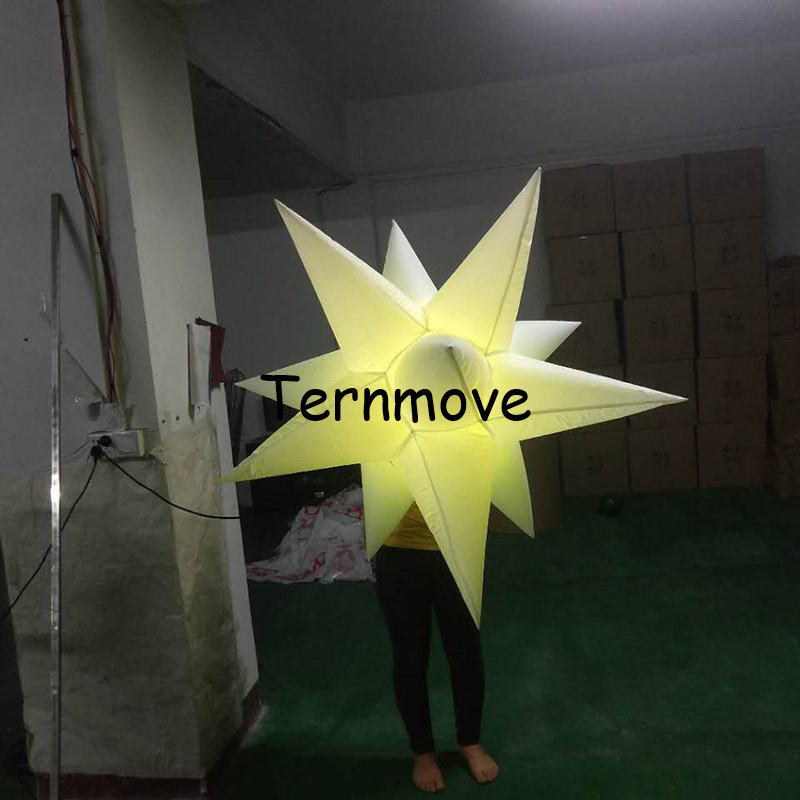 led star light effects Party event club decorative colorful attractive inflatable led star for club decoration event