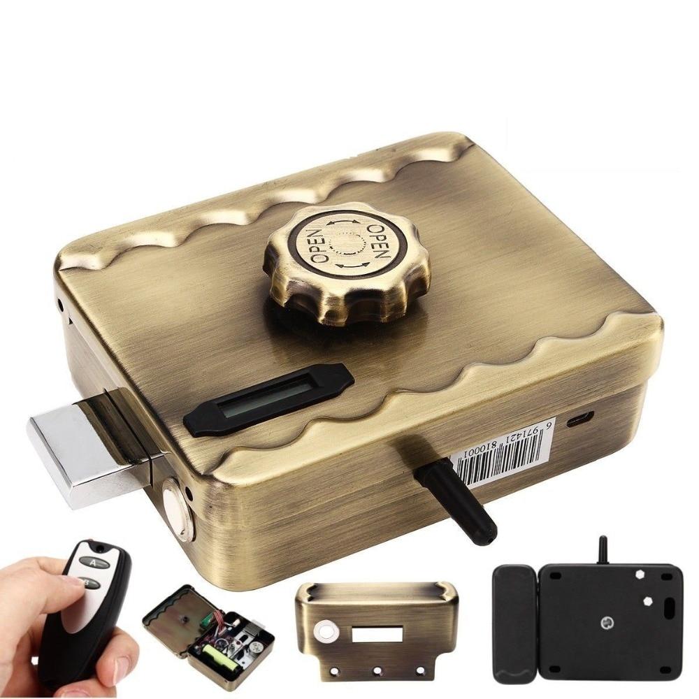 Télécommande Électronique Serrure De Porte Sans Fil Anti-vol de Verrouillage En Aluminium Invisible Anti-vol Serrure Intelligence Maison Serrure De Sécurité