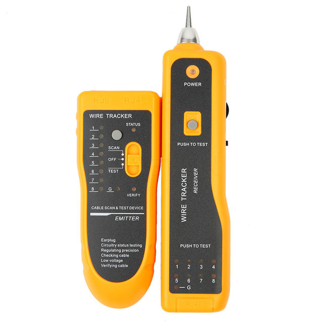 aliexpress com buy 1pcs rj11 networking cable tester telephone