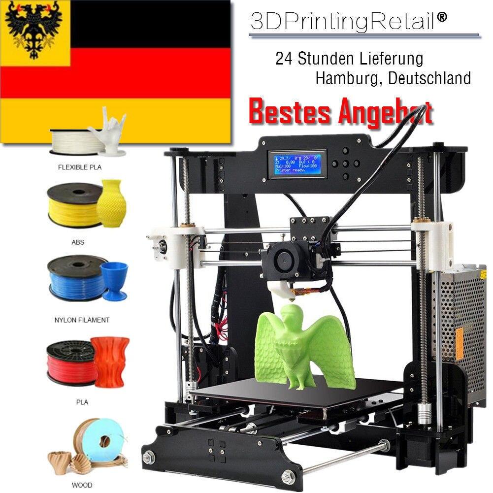 Impressora 3d Amélioré Pleine Qualité Haute Précision Reprap Prusa i3 Panne de courant Reprendre Impression 3D Imprimante MK8 LCD Drucker 3d