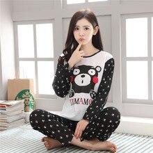 Dámské krásné černobílé pyžamo pro dívky s obrázkem
