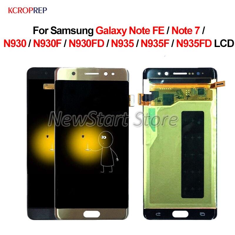 Pour Samsung Galaxy Note FE N935 N935F N935S LCD écran tactile numériseur avec assemblage de cadre pour Samsung Note FE LCD