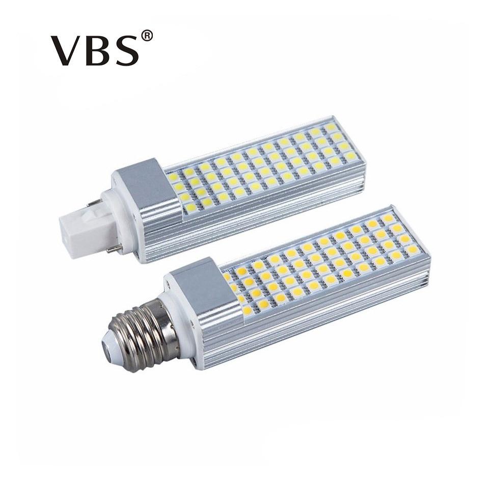 G24 LED Bulbs 5W 7W 9W 11W 13W E27 LED Corn Bulb Lamp Light SMD 5050 Spotlight 180 Degree AC85-265V Horizontal Plug Light free shipping led corn bulb e27 g24 smd5050 led light 180 degeree ac85 265v 9w 12w 13w 15w 16w led horizontal plug lamp
