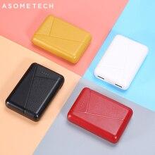 10000mAh Mini Power Bank 2.4A Fast ชาร์จแบบพกพา Powerbank 2 USB Poverbank ภายนอกสำหรับ iPhone Xiaomi Huawei Samsung