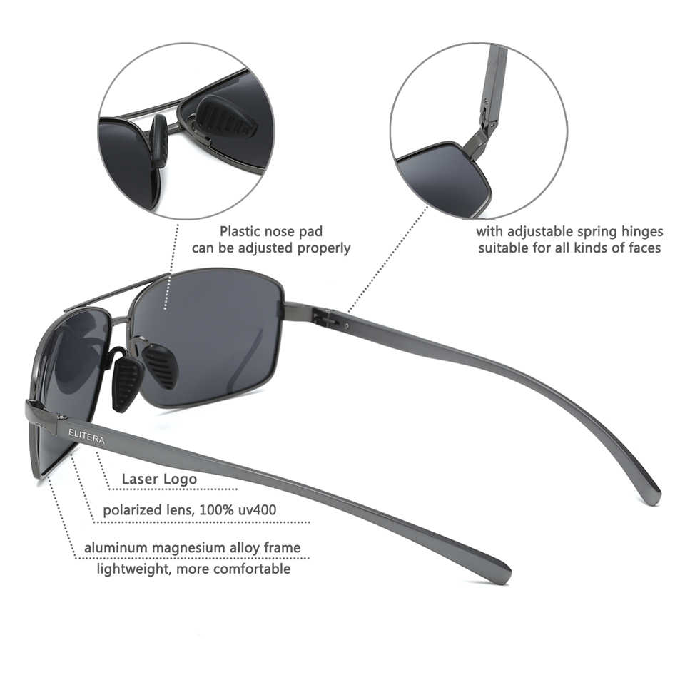 43bec167de ... ELITERA Aluminum Magnesium Brand New Polarized Men s Sunglasses 3 Color  Sun Glasses Men Driving Goggle Eyewear ...