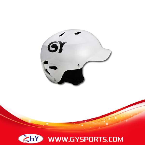 цена на GY aquatic helmet white Perfect ABS water helmet white against rafting boating and kayaking