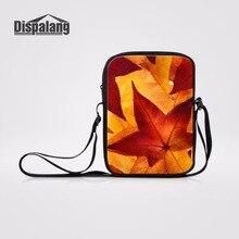19e48d7c9 Dispalang Maple leaves Prints Único Saco Do Mensageiro Das Mulheres Pequeno  Crossbody Bag Mini bolsa de