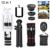12in1 Móvil 10X lente Zoom Telefoto Lentes Gran Angular Macro Ojo de Pez lentes con trípode selfie stick para iphone 5 6 s 7 samsung