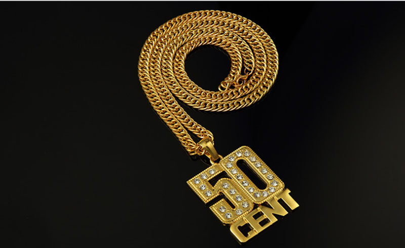 24k real gold chain for men Hiphop jewelry custom name necklace