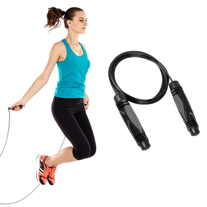 Steel Wire Jump Rope Bearing Skipping Rope Lose Weight Exercise Boxing MMA Gym Fitness Training Skip RopeAnti Slip Foam Handle