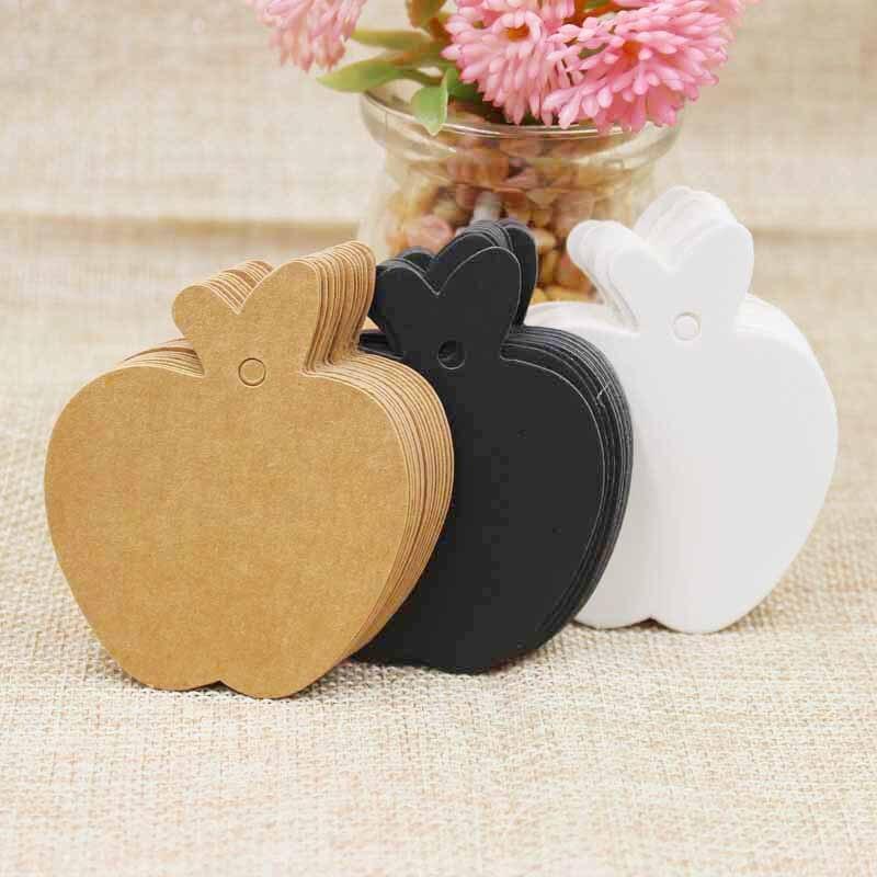 200 шт. mutli цвет apple формы Симпатичные пустая бумага свадебный подарок тег для подарков/свадебной/печенье/ кэндис декоративные тег