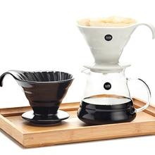 """От 2 до 4 лет Набор чашек V60 кофейник с воронкой Керамика Кофе производителей """"my bottle"""" стеклянный чайник для чая бутылки"""