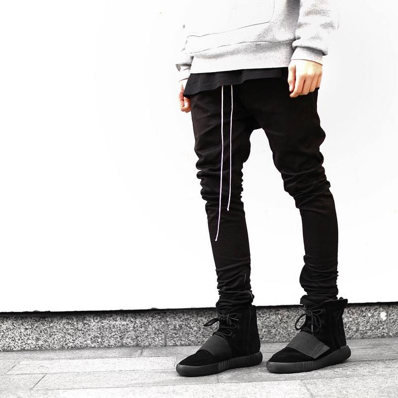 ONCEGALA Streetwear Harem Pants Men Draw String Elastic ...