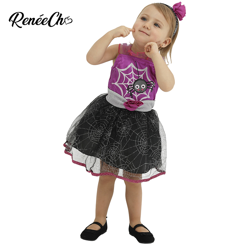2019 Kids Costume Toddler Spider Costume Baby Costume Dress For Halloween Cute spider web lolita cosplay dress for 1-4 Years Old