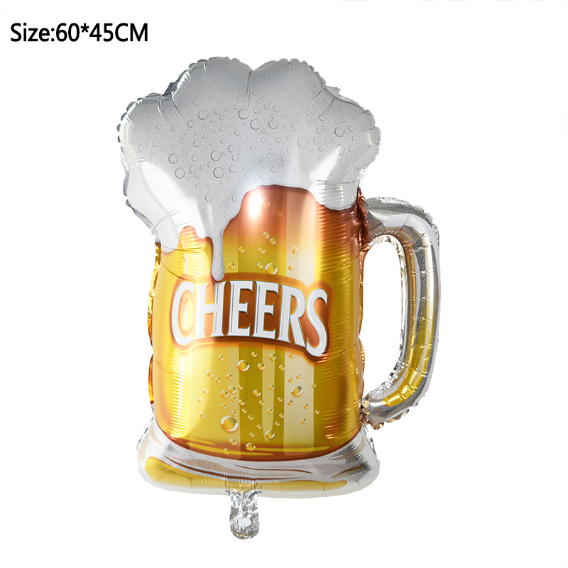 1pcs Foil Champagne Bottle/Beer Cup/Birthday Cake Balloons For Wedding Decorations 17