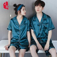 Summer Silk Men Pajama Set Satin Sleepwear Men Suits Short Pyjamas Short Silk Men's Pajamas Solid Men's Sleepwears Sets L XL XXL