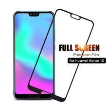"Tempered Glass For Huawei Honor 10 Protective Glass Screen Protector Honor 10 Glass Honor10 Film 5.84"" COL L29 L29 Full Cover 9H"