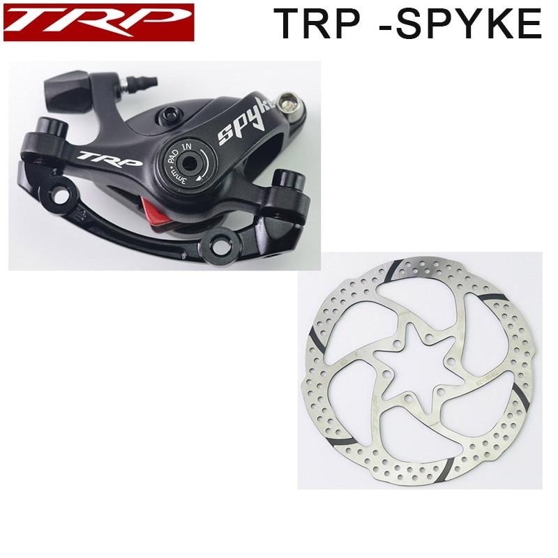 TRP Spyke Alliage Mécanique Disque etrier de frein Spyke Noir étriers Avant/Arrière/Paire w/ou w/o 160mm disque avec Adaptateur Vis