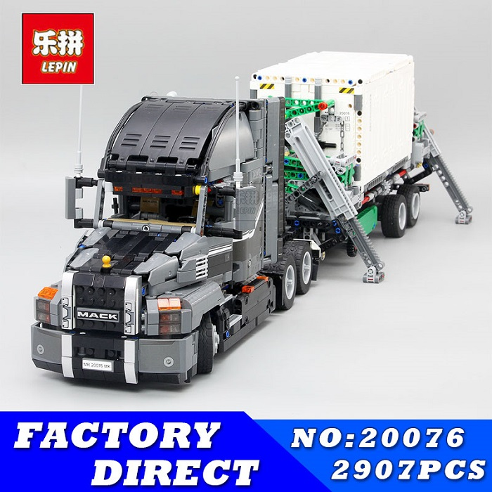 Lepin 20076 Genuine 2907Pcs Technic Series The Mack Big Truck Set 42078 Building Blocks Bricks Educational Toys For Kids As Gift lepin 20076 technic series the mack big