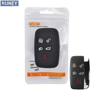 Image 1 - 5 כפתור סיליקון רכב מרחוק מפתח Fob מעטפת כיסוי מקרה עבור לנד רובר ריינג רובר ספורט ווג Evoque גילוי 4