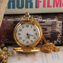 цена на Vintage Gold Locomotive Motor Railway Train Steampunk Pocket Watch For Men Women Charming Pendant Necklace Clock Relogio Bolso