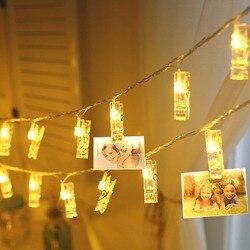 Atmosfera luz da noite de fadas led string luz foto titular clipe bateria energia luminaria para o feriado natal decoração casamento