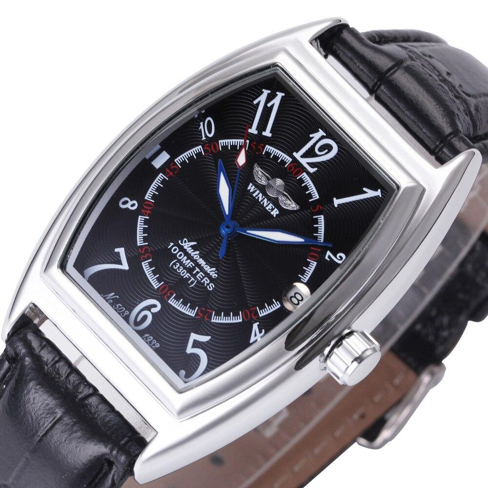 Fashion Design Women Automatic Watches Top Brand Luxury Ladies Business Dress Wristwatches WINNER Calendar Date Clock +GIFT BOX