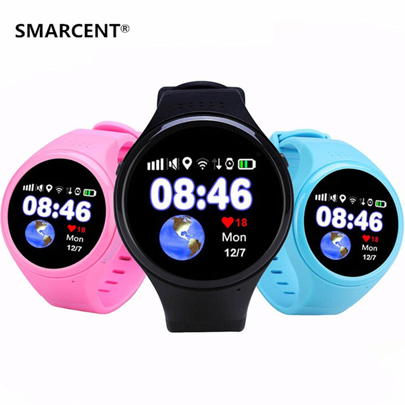SMARCENT GPS Baby Smart Watch T88 with Wifi SOS Call Location Device Fitness Tracker for Kids Safe Anti-Lost Monitor PK Q90 Q50 smart baby watch g72 умные детские часы с gps розовые