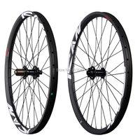 ICANBikes 27.5er Hookless Wheelset AM Bike 35mm wide 32/32H Bi tex 6 pawls 650B carbon all mountain Wheels 142*12mm thru axle
