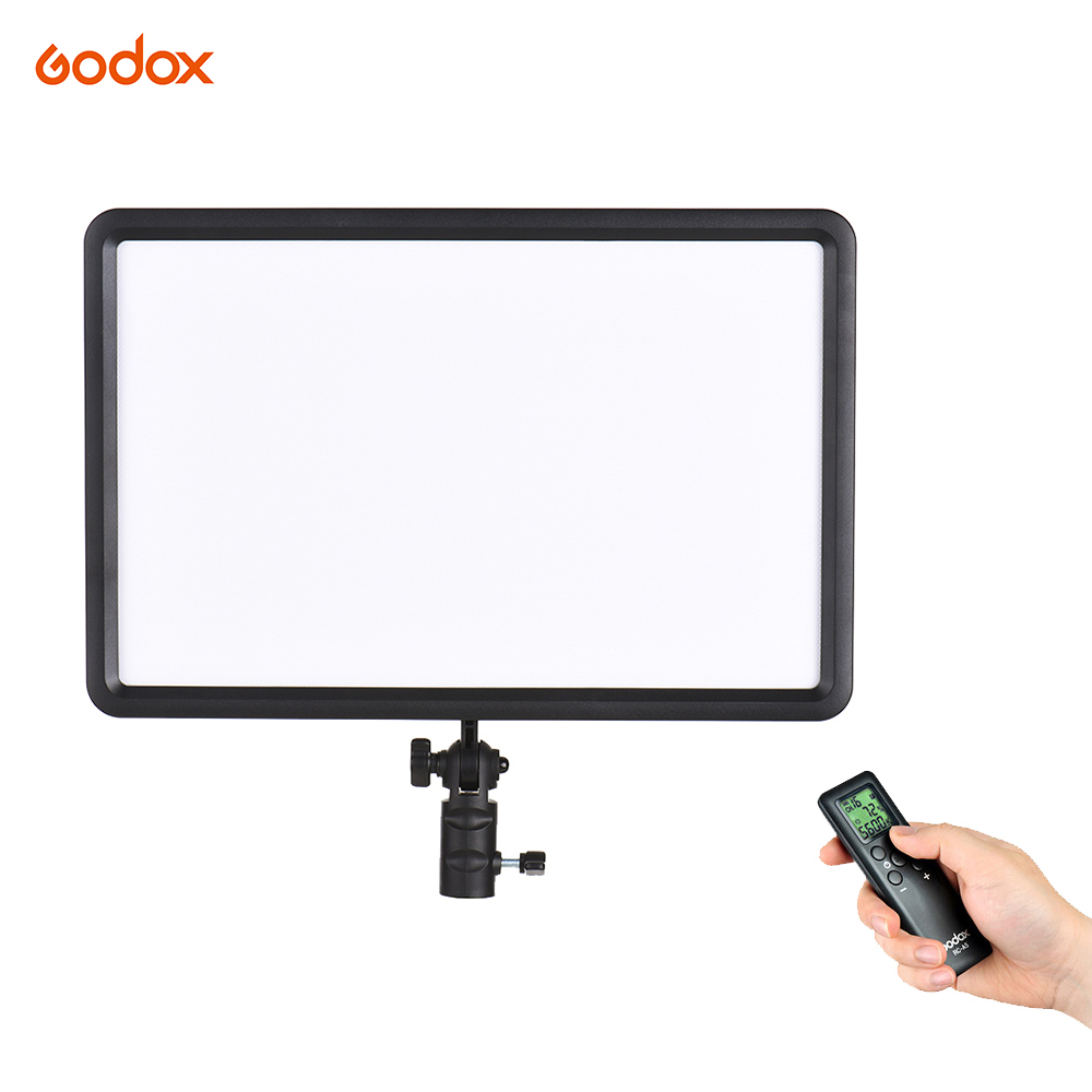 Godox LEDP260C Ultra Thin LED Video Studio Light Lamp LCD Display Bi-Color & Dimmable+Wireless Romote for Camera DV Camcorder new godox 308c bi color dimmable 5500k 3300k led video led video studio light lamp professional video light with remote control