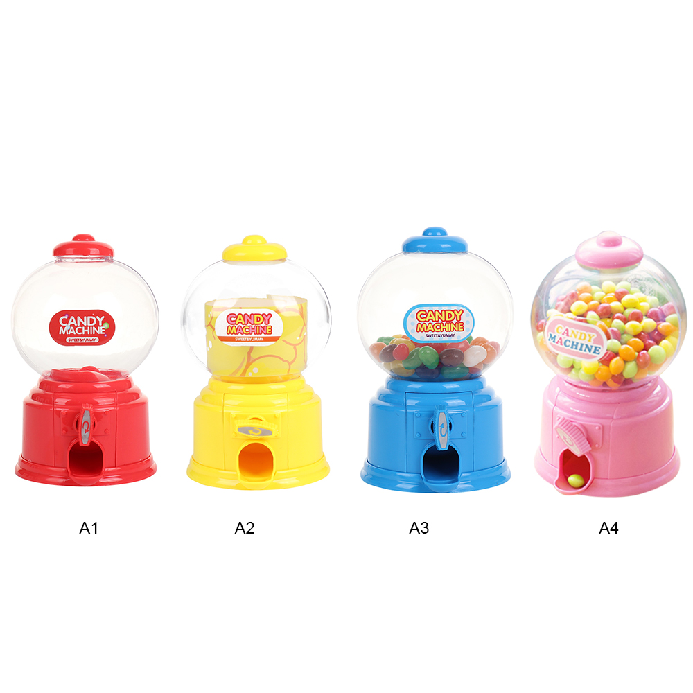 Creative Cute Sweets Mini Candy Machine Bubble Gumball Dispenser Coin Bank Kids Toy Chrismas Gifts For Children Coin Bank Cans