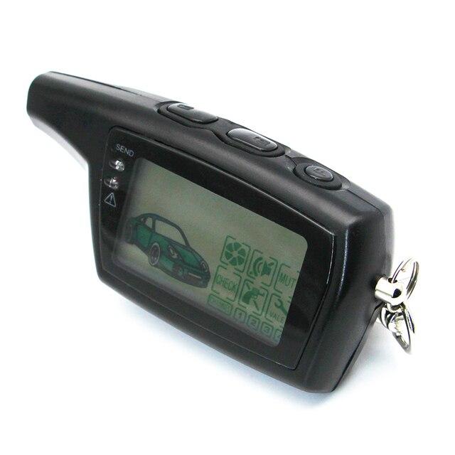 Dxl 3000 lcd chaveiro de controle remoto para a versão russa segurança do veículo em dois sentidos sistema alarme carro chave pandora dxl3000