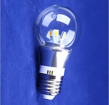 Free shipping high quality 3W LED globe bulb lights AC85-265V home lighting clear glass cover Warm white/Cool white